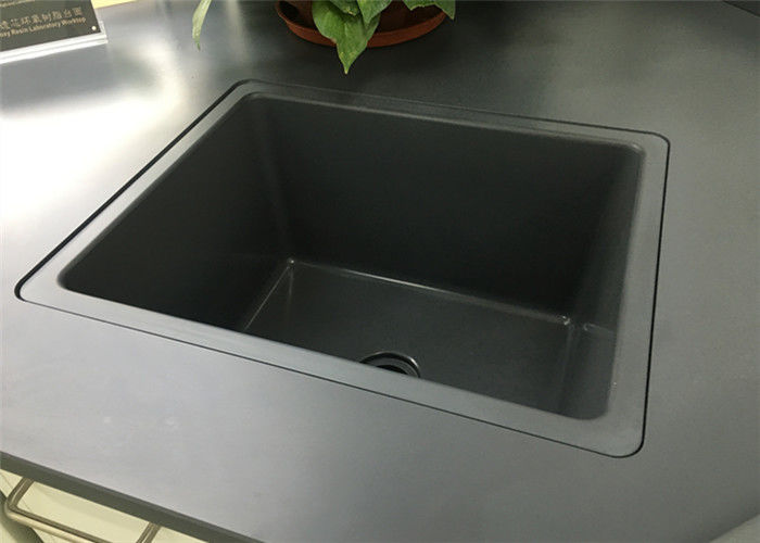 Laboratory Bench Drop In Sink 15mm Thickness Easy Installation With Glue