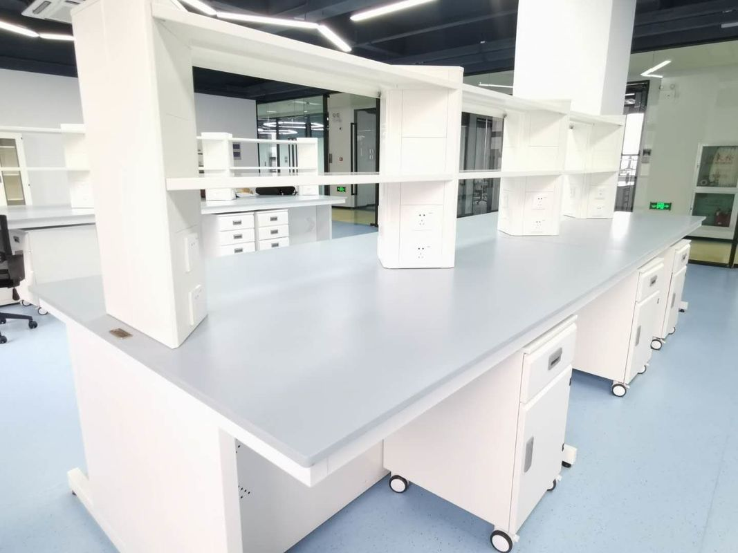 Matte Surfaces And Marine Edge Epoxy Resin Lab Countertops For Laboratory